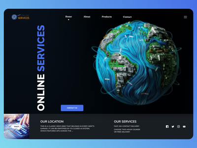 Online Services online new clean ui clean branding website web design ui ux