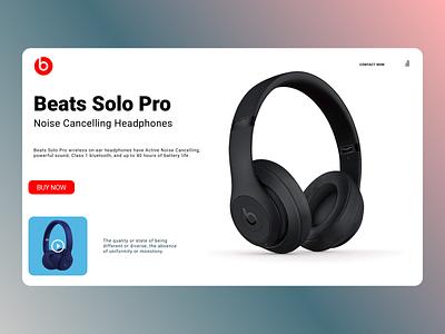 Beats Solo Web Design shopping new online clean ui clean ui ux website web design