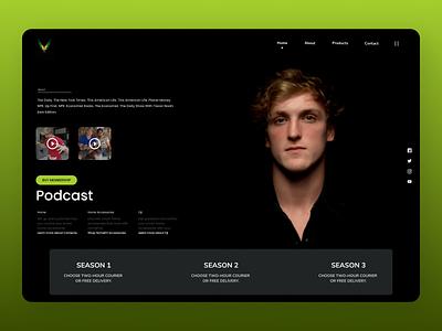 Podcast web design online branding new clean ui clean website web ui design ux