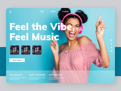 Music Vibes shopping online new clean ui clean website web design ui ux