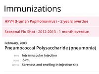 Health Care Immunization