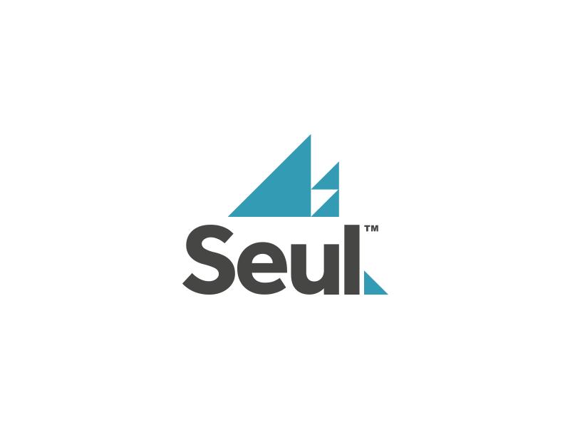Seul Architectural Firm Logo Design logo logo design triangles visual identity branding design brand identity blue geometric brand