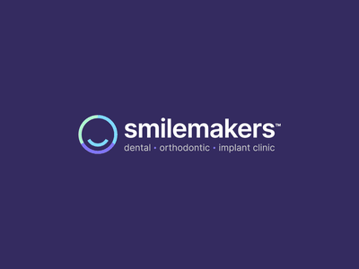 Smilemakers Rebrand dental dentist identity visual identity design branding logo