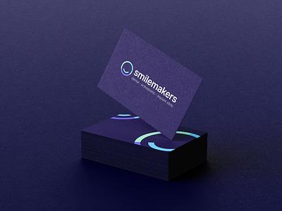Smilemakers Business Card dentist dental business card stationery visual identity logo branding