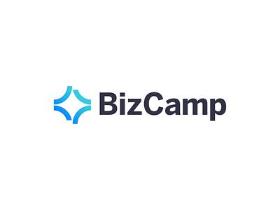 BizCamp Logo conference event blue gradient logo design identity visual identity design branding logo