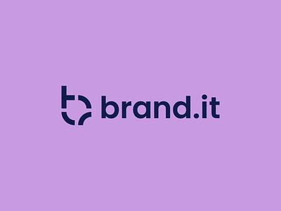 Brand.it Logo purple trend name merch merchandise brand visual identity visual identity design logo branding