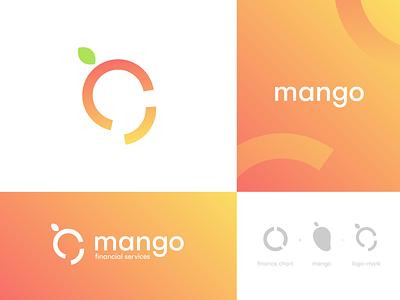 mango financial services logo trends orange services fintech finance typography identity visual identity design branding logo