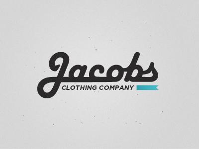 Jacobs Clothing Company Logo V2 jacobs clothing company logo noise typography