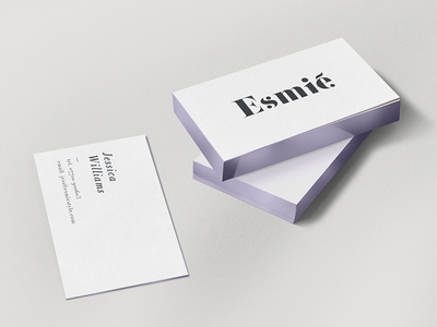 Violet Metallic Gilded Edges & Edge Foil hair fashion logo esmie print stationery foil metalic edges speciality finishing business cards