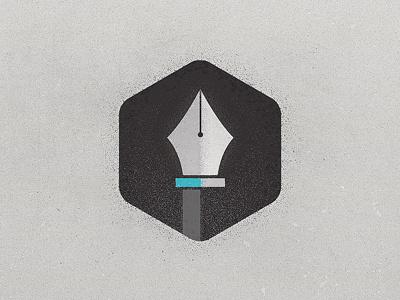Hex Pen Tool jonny delap grunge texture pen tool hexagon logo icon