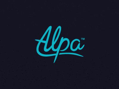 Alpa Logotype logo branding visual identity design jonny delap logotype typography alpa