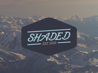 Shaded logo branding visual identity design jonny delap logotype typography