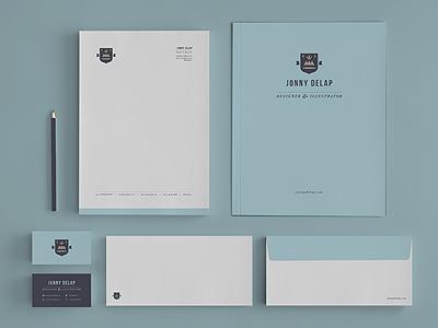 Stationery branding identity visual identity personal branding letterhead business cards presentation folder envelope