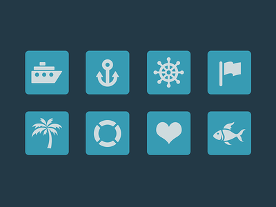 Oceanic Icons icon icons oceanic sea boat anchor wheel flag palm tree fish ocean ship