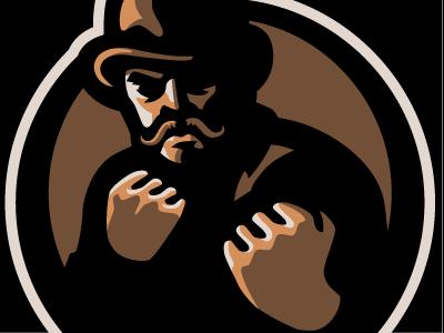 Cockswain fight tough sport band logo cockswain