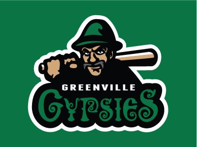 Greenville Gypsies baseball vector sports logo gypsies greenville