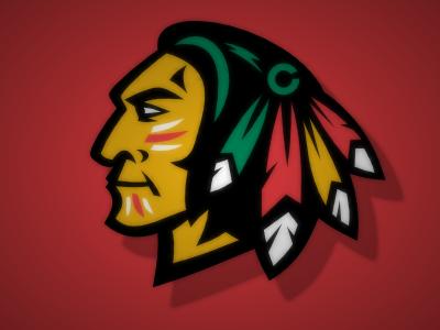 Blackhawks modernization hockey logo sport blackhawks vector chicago