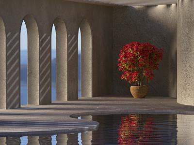 Sea Lounge. 3D Architectural Visualization. 3darhitecture 3dvisualization arhitecture sea coronarender 3dsmax 3drender 3d modeling 3d
