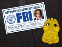 X-Files Scully Credentials