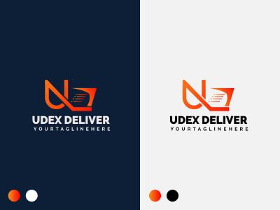 U+DELIVERY LOGO delivery logo u letter logo