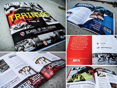 Football Training Retail Catalog football retail catalog print diagonal product athlete sports