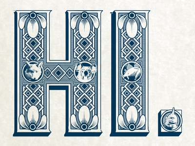Hi From Carson hand lettering illustration type typography invitation announcement monster animals intricate