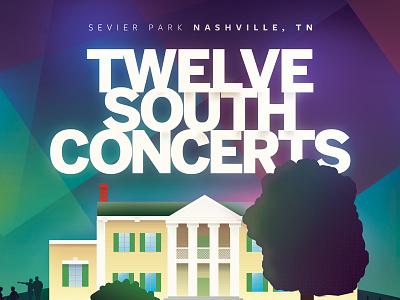 12 south concert poster illustration park 12 south nashville music concert poster