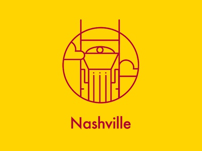 Nashville downtown tower batman icon city nashville