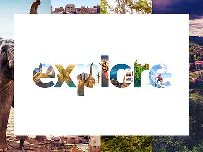 Explore letters surfer app elephant collage adventure travel lonely planet