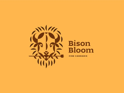 Bison Bloom Fine Cannabis cannabis illustration logo branding