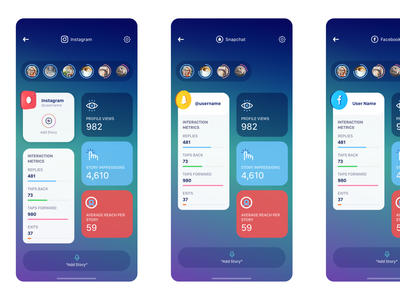 Sketch Fun - Social Network Stories cinema4d fun gradient social media application app design apple 3d flat sketch clean interface iphone mobile app ux ui design