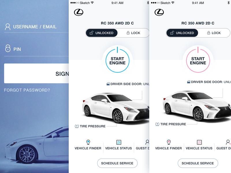 Lexus Mobile App iphone ios interface product design ux ui design enform lexus app mobile