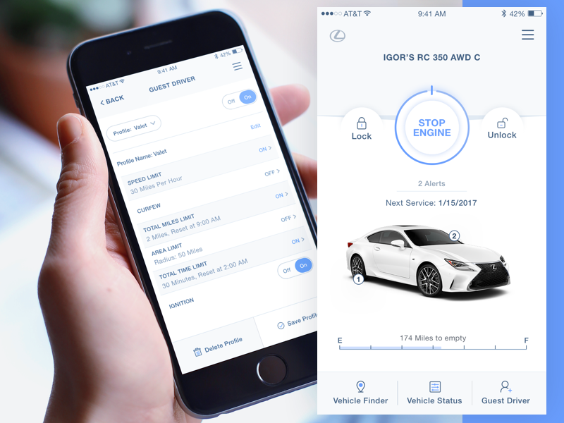 Lexus Mobile App iphone ios interface product design ux ui design enform lexus app mobile
