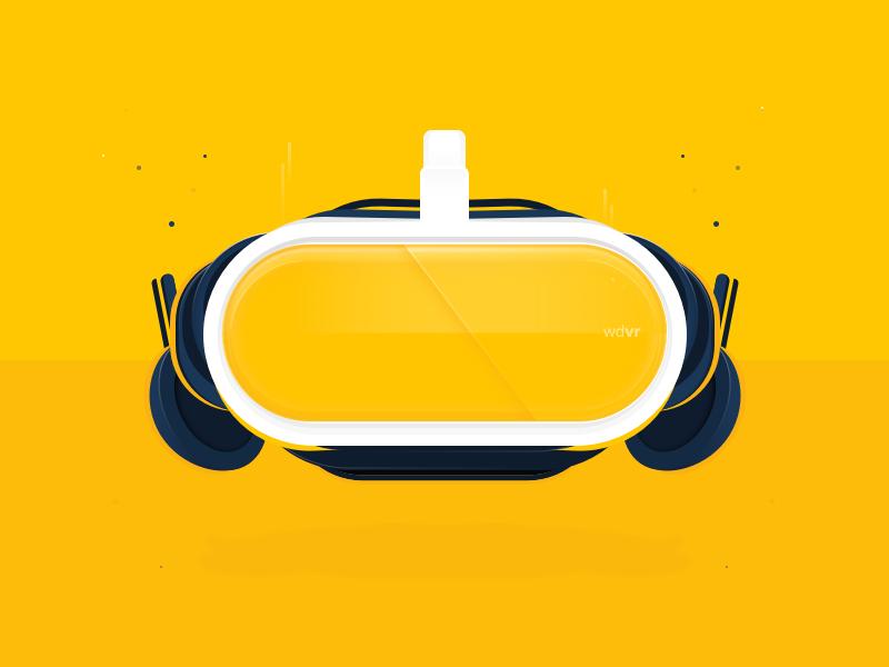 VR Headset Fun 3 vr virtual reality ux ui dribbble design concept branding ai