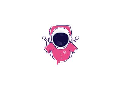 (Sticker Mule Playoff) Astro Dribbble logo sticker contest playoff dribbble illustration art design