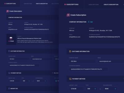 Create Subscriptions UI V1