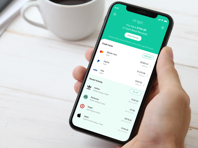 Credit Cards - WIP banking finance concept website dashboard web design product design ios icon flat sketch clean interface iphone web mobile ui app ux design