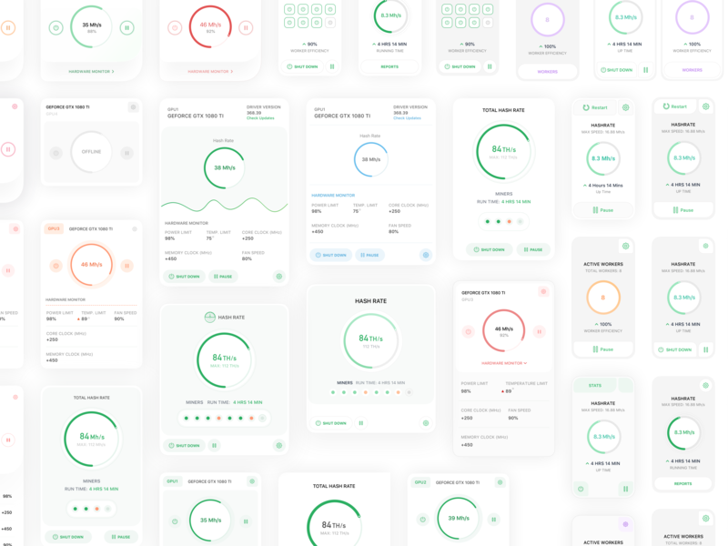 Dashboard Cards concept crypto finance website web design dashboard bitcoin product design ios flat sketch clean interface web iphone mobile app ui ux design