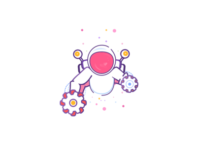 Sunday Fun - Sketch Fun V2 type minimal website portfolio astronaut space concept app product design clean sketch web mobile iphone icon branding vector logo illustration design