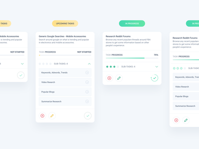 Task Cards sketch clean interface iphone web mobile app ux ui design