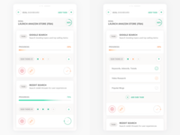Goals and Tasks - Mobile UI Cards uxdesign ui  ux designer uidesign uiuxdesign goals goals app product design clean interface iphone web mobile app ux ui design