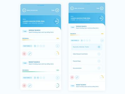 Mobile UI - Task Card Colors web uidesign colorful apple goals product sketchapp concept ios product design flat sketch clean interface iphone mobile app ux ui design