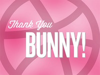 Thank You Bunny! dribbble pink bunny thank you