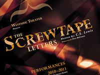 The Screwtape Letters Playbill orange playbill screwtape promotion poster paper cut