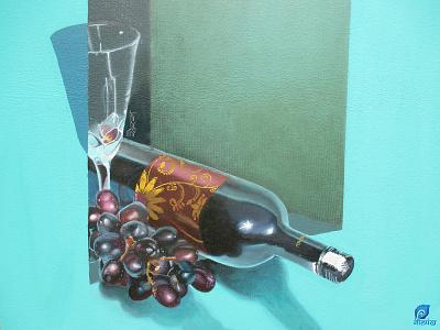 Grapes n wine design arts illustration digital painting digitalartwork digitalarts painting art