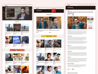 Guruji web pages web design blog design blog post blogger category page homepage blog ux flat ui