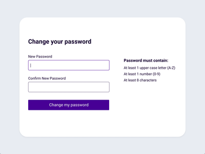 Change Password Interaction