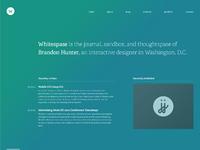 Whitespase homepage
