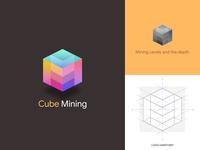 Cube Mining Concept Logo Anatomy