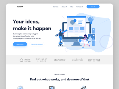 Web development Landing Page web ux ui design